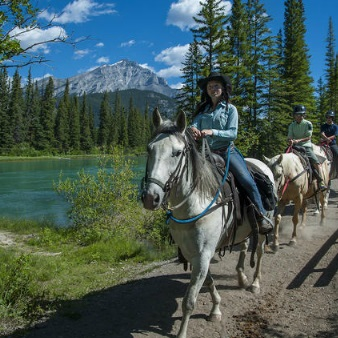 1 Hour Banff Horseback Riding Adventure